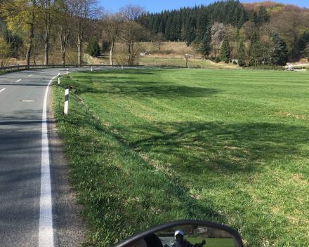 Foto vanop de motor in Wallonië
